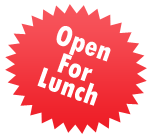 We are open for lunch!